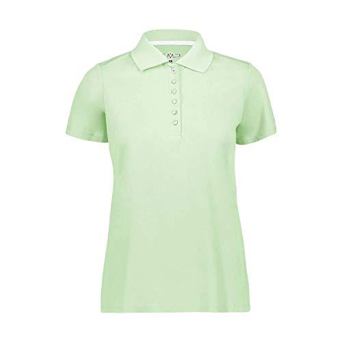 CMP Damen Piquet-Poloshirt mit Dry Function Tecnologie, Leaf, D48