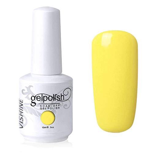 Vishine Gel Polish Nail Art Soak-off UV LED Nail Gel Polish Diy Manicure Yellow(561)