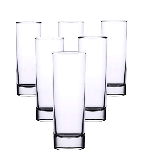 Water Tumblers Glasses Glass Tumbler,Highball Glasses,Ice Tea Beverage Cups, Glassware for Juice, Beer,and Cocktail Drinking Glasses (Color : B(6pcs))