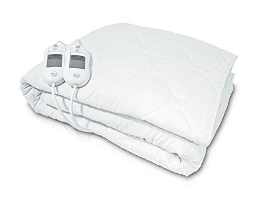 Daga Flexy-Heat CMN2 - Calientacamas Eléctrico, 150 x 150cm, Conexión Separable, 2 Controladores de Temperatura, 3 Niveles de Temperatura, Autostop de seguridad, Calentamiento Rápido