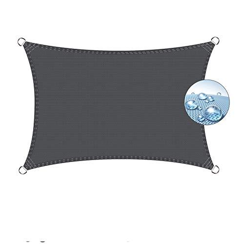 Flei Sonnensegel Balkon 3x4m Dunkelgrau, Sonnentuch, UV Schutz Wetterschutz wasserabweisend imprägniert für Garten Balkon und Terrasse