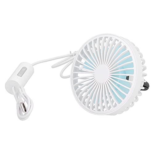 Liujaos Ventilador de Coche, Ventilador de Cochecito Recargable USB, Suministros de Verano portátiles, Ventilador de Aire Acondicionado para niños, niñas, Cochecito para Coche al Aire Libre