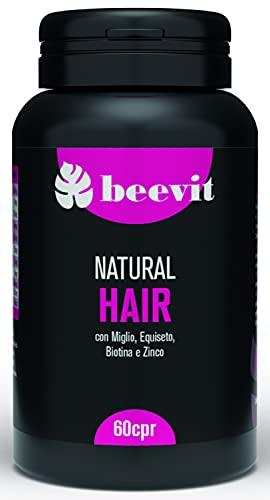 NATURAL HAIR   Integratore per Unghie e Capelli Naturale Potente e Concentrato   Biotina, Miglio, Vite Rossa, Equiseto