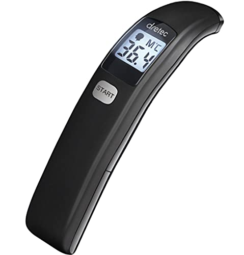 dretec(ドリテック) 体温計 非接触 電子 測定 検温時間1秒 赤ちゃん ベビー ブラック 使用環境温度:10〜40℃