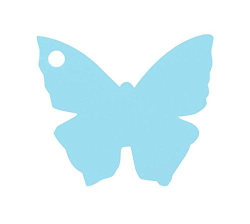Chal - Etiquette Porte nom Papillon Ciel x10