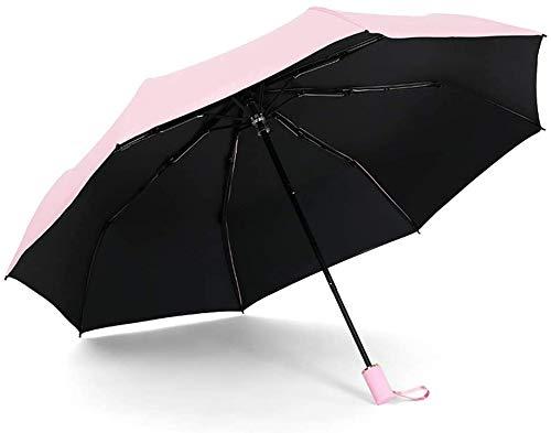 Chuihui Umberllas Folding Umbrella Leichte Durable acht Knochen Wasserabweisende tragbare Falten Regenschirm Beide Sunny und Sunny antiUV Origami Regenschirm (Farbe: Marine, Größe: One Size) Einfach z