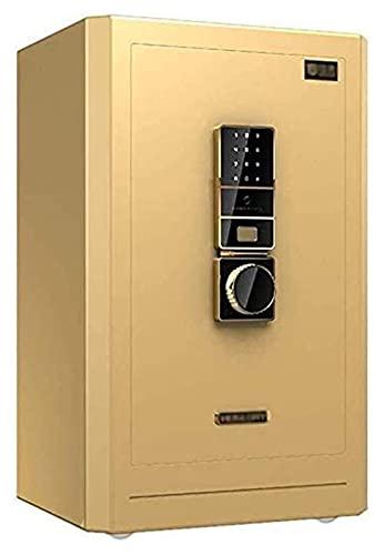 Cajas de Seguridad y Hucha, Cajas de Seguridad para el Hogar, Caja de Seguridad Huella Digital 40x36x60cm con 9 Pernos Dobles de Acero, Cerradura de Combinación Electrónica, Caja de Escondite de Dine
