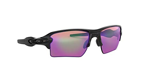 Oakley Men's OO9188 Flak 2.0 XL Sunglasses, Polished Black/Prizm Golf, 59 mm