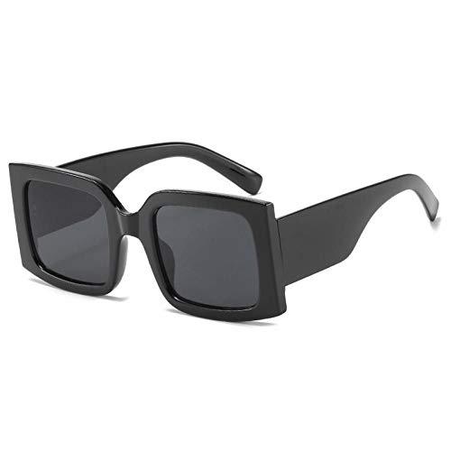 ZZOW Gafas De Sol Cuadradas De Gran Tamaño Vintage para Mujer, Gafas Graduadas A La Moda, Gafas De Sol Uv400 para Hombre, Tonos Púrpuras Azules