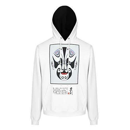BTJC88 Sudaderas con capucha para hombre y adolescentes con logo artístico personalizado, algodón chino con capucha