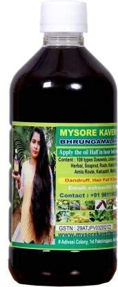 Mysore Kaveri Herbal Kaveri Herbal Brungamalaka Hair Oil for Anti-Dandruff Hair Oil for Hair Fall Control & Hair Growth for Women...