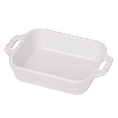 Staub Rectangular Dish, White