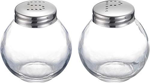 Westmark Salz- und Pfefferstreuer-Set, 2-tlg., Fassungsvermögen: je 50 ml, Glas/Rostfreier Edelstahl, Roma, Silber/Transparent, 65462270