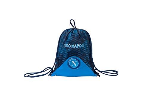 ssc napoli Sacca-Zainetto Easy Bag, Napoli Live Match, Blu, Sport & Tempo Libero, Unisex Bambini, Taglia Unica