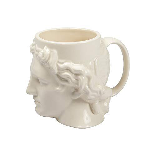 Taza de café de cerámica creativa, tazas de leche, taza de cabeza de Apolo David griega antigua de España, taza de escultura romana taza de agua de David (capacidad: 401-500 ml)