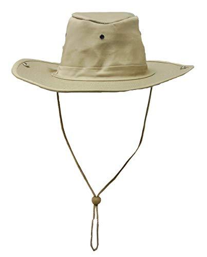 Chapeau de brousse m.Bouton kaki - Kaki, XXL