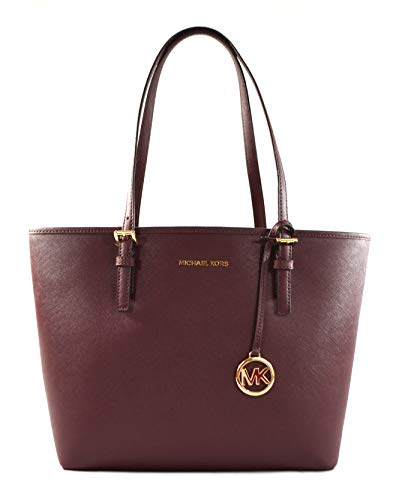 """Made of Saffiano leather Stylish and spacious Top clip closure Outside 1 back slip pocket, inside 1 zip pocket and 2 slip pockets 14.5""""L x 10""""H x 4.5""""D"""