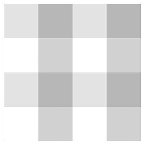 murando Vlies Tapete kariert - Deko Panel Fototapete Wanddeko 10 m Tapetenrolle Mustertapete Wandtapete modern design Dekoration - grau weiß f-A-0692-j-b