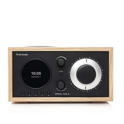 Tivoli Audio Model One+ FM/DAB+ Radio con Bluetooth e telecomando, colore quercia / nero
