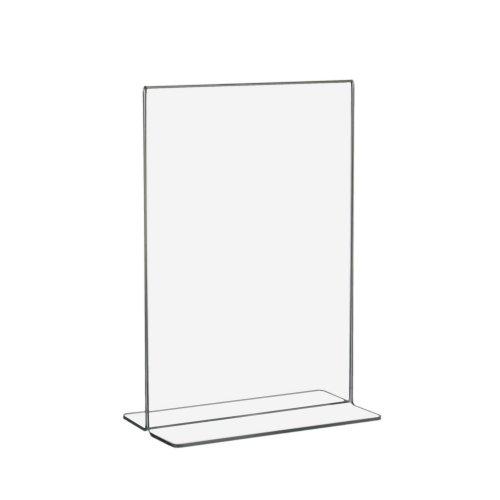 10 Stück DIN A5 T-Ständer/Werbeaufsteller / T-Aufsteller im Hochformat aus Acrylglas