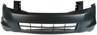 CarPartsDepot 352-20713-10-PM CYLINDER FRONT BUMPER COVER W/O FOG HOLE PRIMED HO1000254