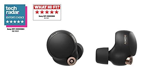 Sony WF-1000XM4 Bezprzewodowe Słuchawki z Redukcją Szumów Wraz z Etui do Ładowania, Czarny, 1 Zestaw