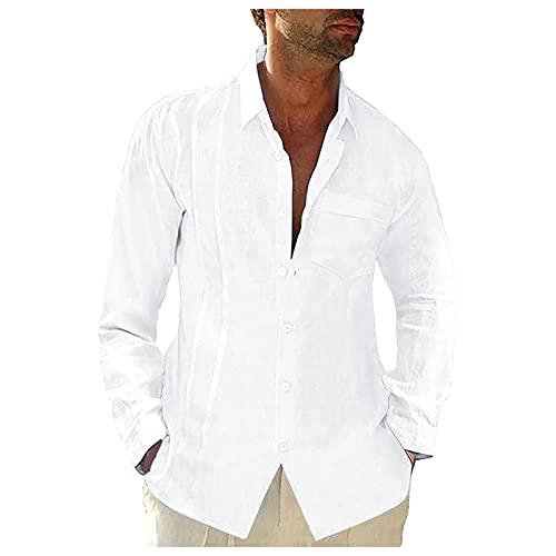 Dasongff Herren Oberteile Freizeithemd Herbst Winter Hemd Langarm Regular Fit Basic Shirts Einfarbig Regular Fit Button-down Longshirt Blusenshirts Men´s Shirt Langarmshirt