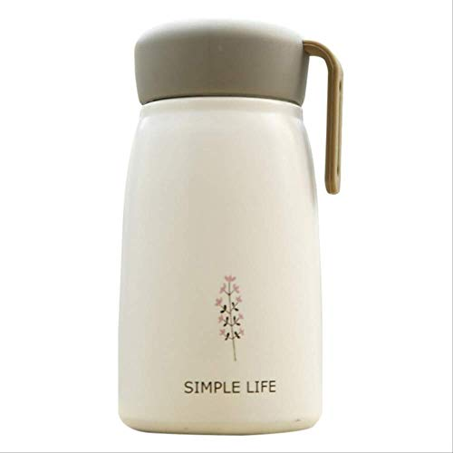 Wjfijz 350ml Portable Stainless Steel Practical Double Wall Thermoses Flasks Mini Outdoor Vacuum Insulated Water Bottle Daily Supplies W
