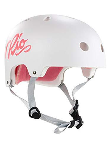 Rio Roller Script Helm, Unisex, für Erwachsene, Unisex-Erwachsene, RIO159_53/56 cm_Blanco, weiß, 53/56 cm