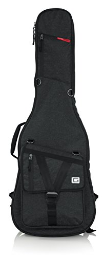 Gator Cases Transit Series Electric Guitar Gig Bag; Charcoal Black Exterior (GT-ELECTRIC-BLK)