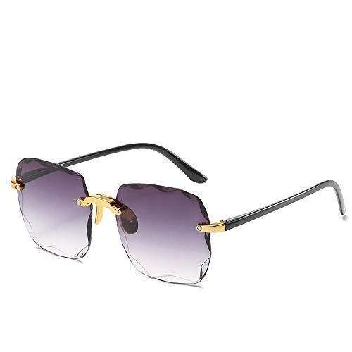 Sunglasses Gafas de Sol de Moda Gafas De Sol Rectangulares De Moda para Mujer, Gafas De Sol Cuadradas Sin Montura para M