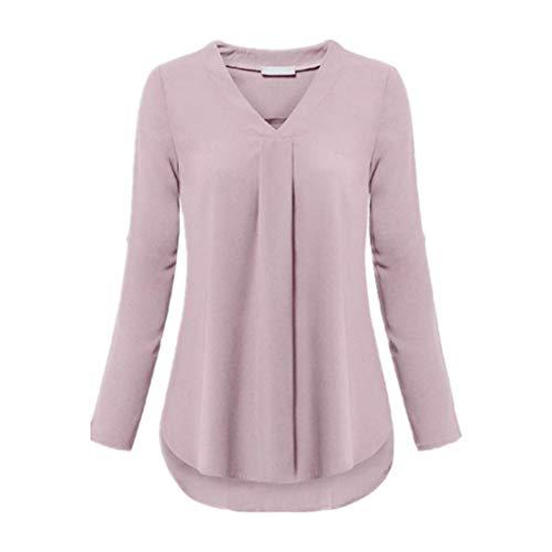 Zytyeu Damen Hemd Blusen Damen V-Ausschnitt Sexy Chiffon Schlanke Damen Tops...