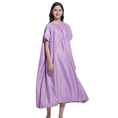 Modonghua Yoni bata de vapor, bata de baño de cuerpo completo, para mujer, sauna, manga corta, cuello redondo, suave capa de vapor para fumigación en el hogar, spa