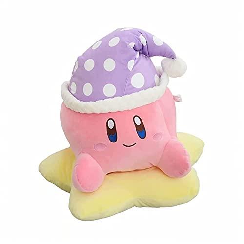 Cute dibujos animados lindo gorro de dormir estrella de cinco puntas Kirby muñeco de peluche muñeca almohada grande muñeco de peluche 25cm