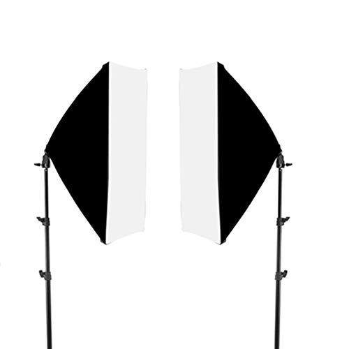 ZYX Caja De Luz De 22'* 27' Kit De Iluminación De Caja De Luz Continua De Estudio De Fotografía con Soporte De Luz De 67', para Productos De Estudio Fotográfico, Fotografía De Retrato Y Video