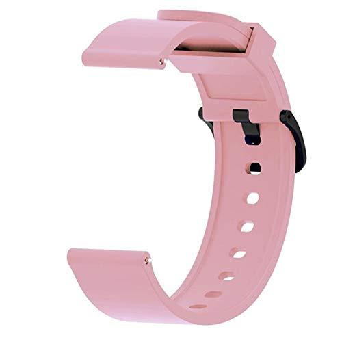Sorteo Pulsera de Correa de Silicona para Xiaomi Huami Amazfit BIP S GTS Smart Watch Band para Amazfit GTR 42mm Correa Accesorios de Pulsera (Band Color : Pink, Band Width : For Amazfit GTS)