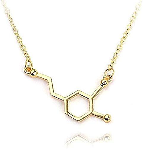 Collar Colgantes de molécula de serotonina Collares Collar de molécula de dopamina Collar de Mapa del Mundo Montaña