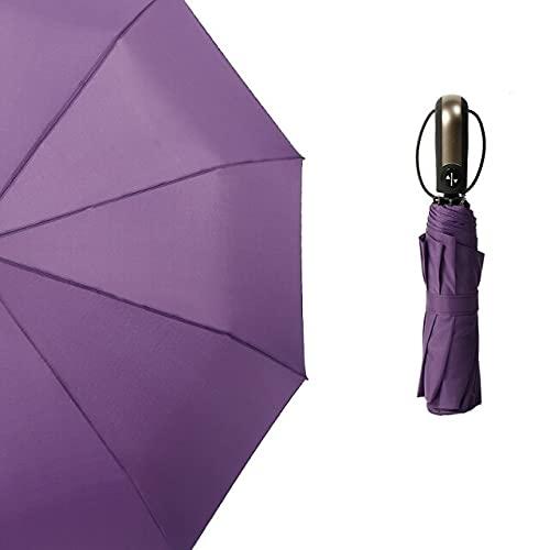 Funmoon - Paraguas automático resistente al viento para 1 a 2 personas, 3 capas, para hombres y mujeres, resistente al viento, 10 K