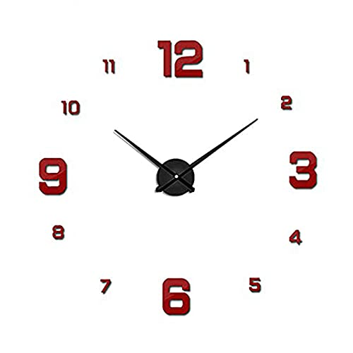 Relojes De Cuarzo Apresurados De DiseñO Moderno Relojes De Moda Pegatina De Espejo DecoracióN De Sala De Estar De Bricolaje,Reloj De Pared Grande 3D Relojes Moda...