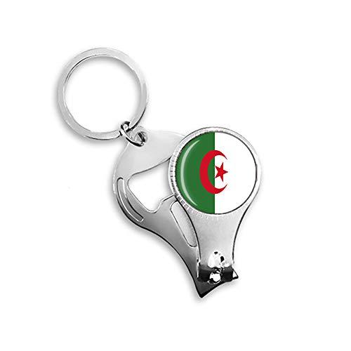 Algerien Nationalflagge Nagelknipser Schlüsselanhänger Rucksack Anhänger Schlüsselanhänger Geschenk Reise Souvenir Multifunktionskombination