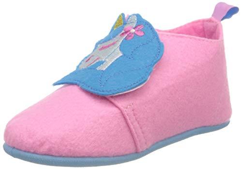 Playshoes Jungen Mädchen Einhorn Hausschuh, rosa, 29 EU