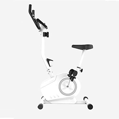 GJJSZ Bicicleta de Ejercicio para Bicicleta Vertical para Interior,Bicicleta estática con transmisión por Correa,Bicicleta de Ejercicio Inteligente silenciosa,Equipo de Ejercicios para el hogar