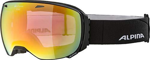 ALPINA Unisex - Erwachsene, BIG HORN QMM Skibrille, black matt, One size