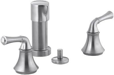 Kohler K-10279-4A-G Forte Bidet Faucet with Traditional Lever Handles, Brushed Chrome