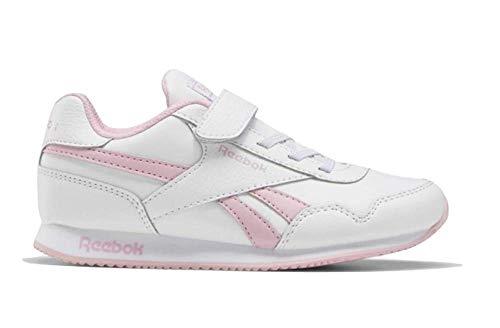 Reebok Royal CLJOG 3.0 1V, Zapatillas de Running para Niñas, Blanco/ROSSUA/Blanco, 33 EU