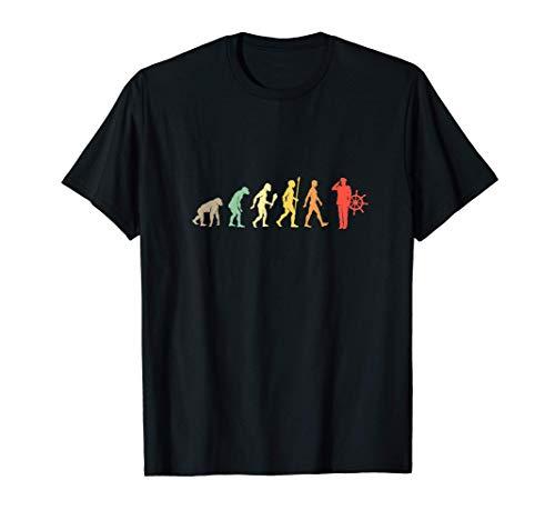 Capitn De Barco Evolucin Regalo Vintage Marinero Camiseta