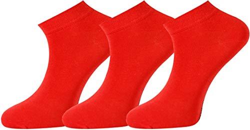 Mysocks Einfach Füsse und Sneakersocken rot