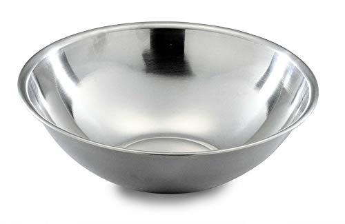 Grunwerg 2001F Economy Range Cuenco de mezcla de acero inoxidable con borde enrollado, 28.5cm de diámetro