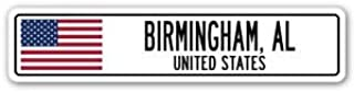 3 Pack: BIRMINGHAM, AL, UNITED STATES Street Sign Sticker 3