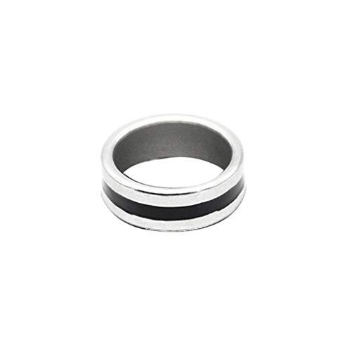 Q-XIAOKEAI Magic Tricks Anel magnético forte, anel preto, ferramenta de decoração de dedo